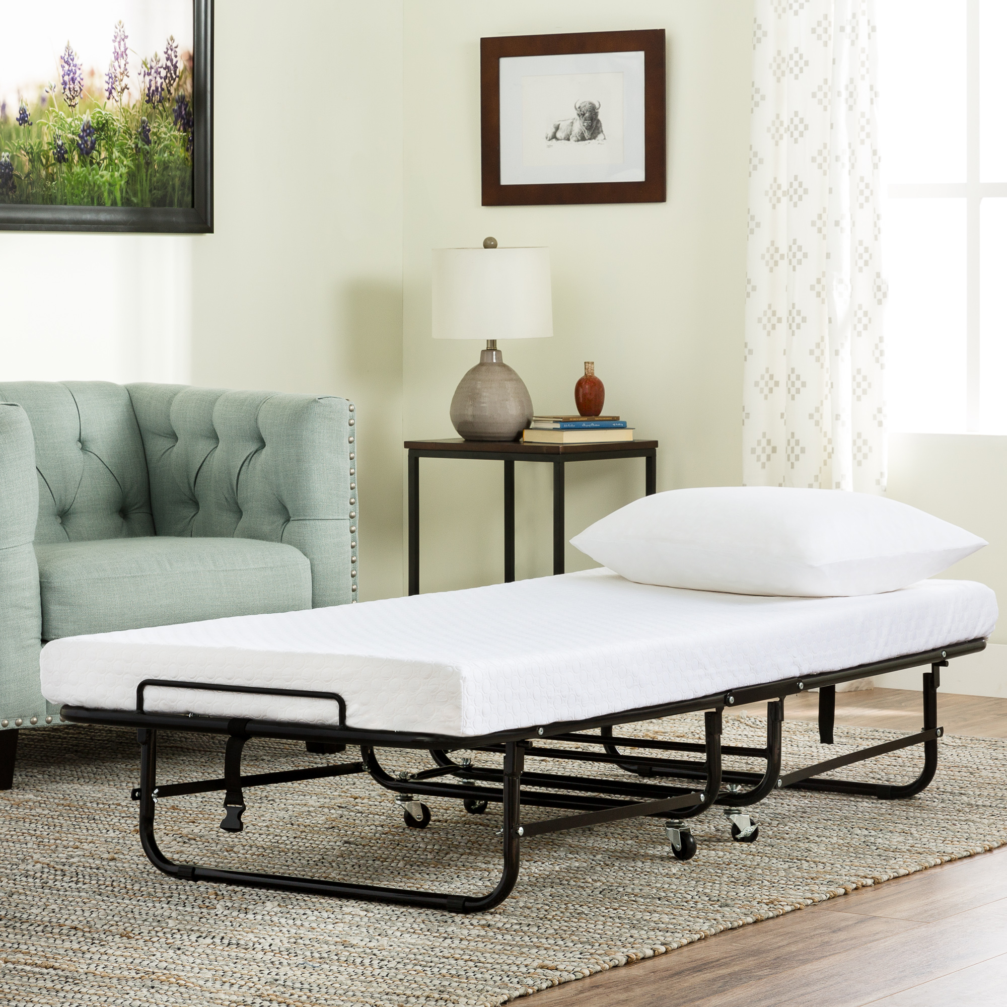 Better Homes & Garden Rollaway Guest Bed with Memory Foam Mattress