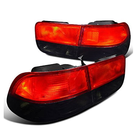 Spec-D Tuning LT-CV962RG-RS Honda Civic Coupe 2Door Crystal Red/Smoke Rear Tail Brake Lights Pair Coupe Rear Brake Light