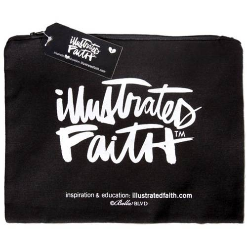 """Illustrated Faith Get It Together Cotton Zippered Pouch, 12.5"""" x 8.5"""""""