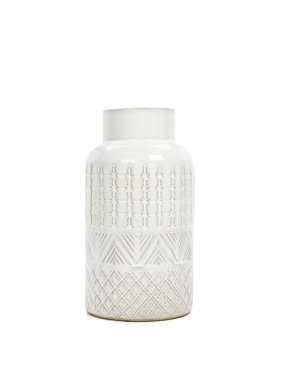 Better Homes and Gardens Small Cream Textured Vase