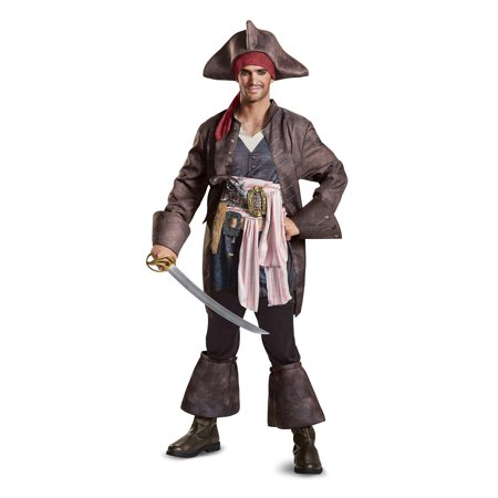Pirates of the Caribbean 5: Captain Jack Deluxe Adult Costume (Pirates Of The Caribbean Jack Sparrow Costume)