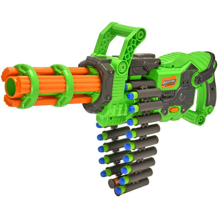 Adventure Force Scorpion Rotating Barrel Auto Gatling Dart Blaster, Green