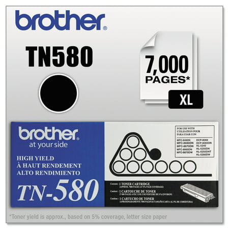 Brother TN580 High-Yield Toner, (Tn580 Compatible Toner)