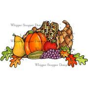"""Whipper Snapper Cling Stamp 4""""X6""""-Horn Of Plenty"""