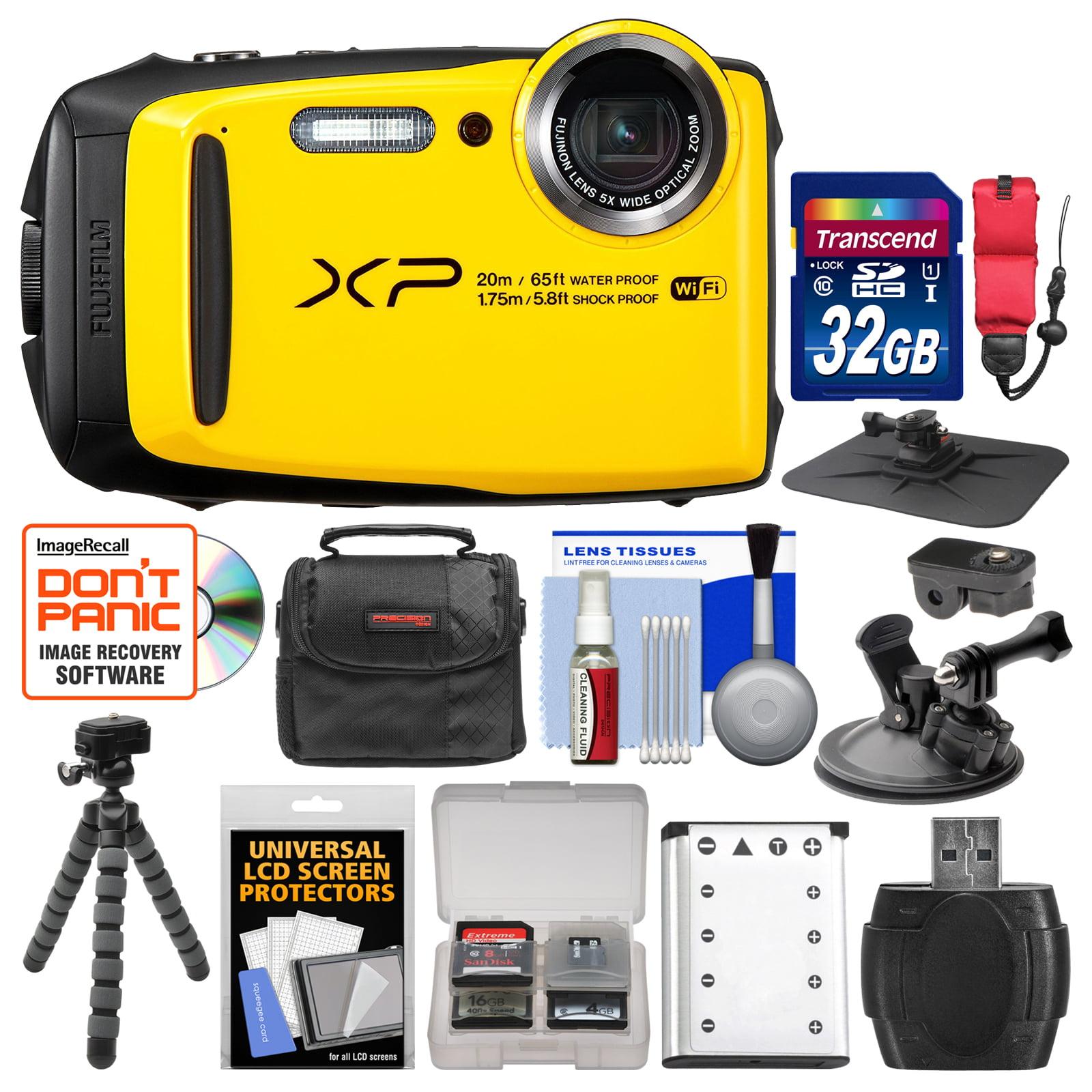 FujiFilm FinePix XP120 Shock & Waterproof Wi-Fi Digital Camera (Yellow) with 32GB Card + Case + Battery + Flex Tripod +... by Fujifilm