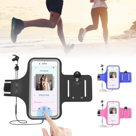 EEEKit Water Resistant Cell Phone Armband Case for iPhone X Xs 8 7 6 6S Samsung Galaxy S10 S9 S8, S7 Note 9 LG Google with Reflective Strip & Key/Card (Running Goggles)