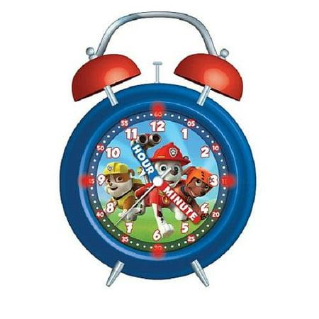 Paw Patrol Light Up Twin Bell Teacher Alarm Clock
