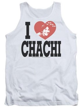 9bfc507c9ec650 Product Image Trevco Happy Days-I Heart Chachi - Adult Tank Top - White