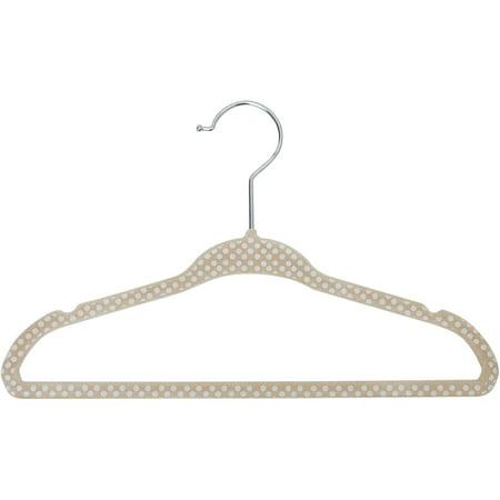 Baby Girl Hanger (Baby/Kids' Printed Velvet Polka Dot Hangers, Set of 30, Choose Your Color )