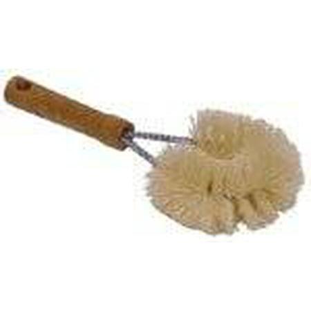 Scrub Vegetable Brush - Tampico Vegetable Scrub Brush Wood Handle