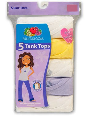 Fruit of the Loom Girls' 5-Pack Tank