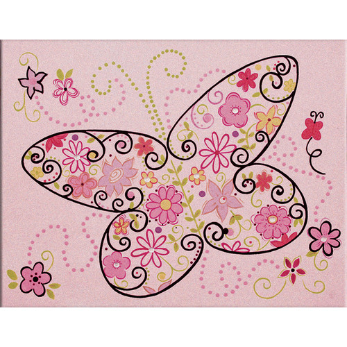 Renditions by Reesa Sparkle Butterlfy I Canvas Art