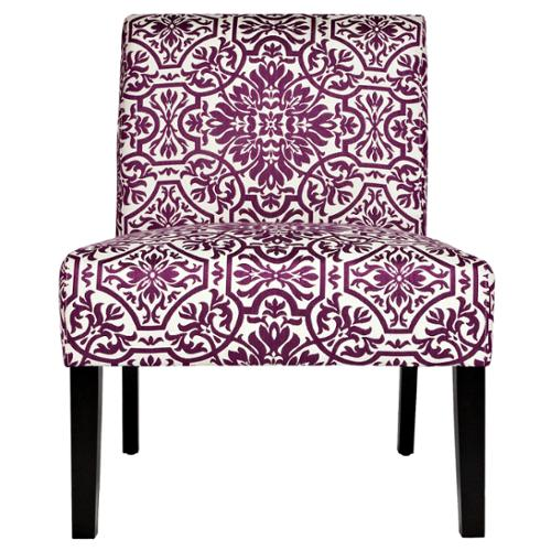 Ordinaire ANGELOHOME Angelo:HOME Bradstreet Modern Damask Provence Purple Upholstered  Armless Chair   Walmart.com
