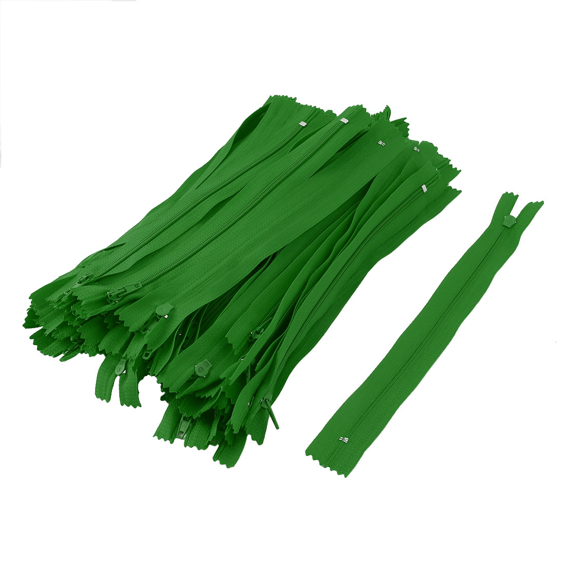 Tailoring Nylon Handcraft Sewing Pants Bag Zipper Green 9 Inch Length 100pcs
