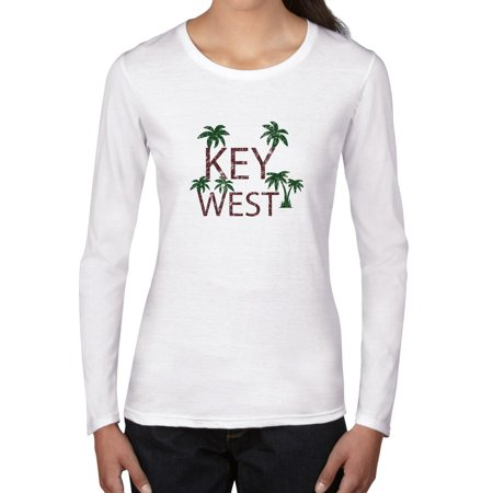 Key West - Best Travel and Spring Break Place Women's Long Sleeve (Best Place To Shop For Womens Business Casual)