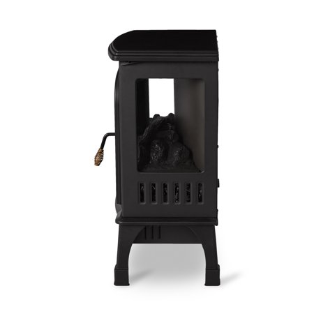 Limina Indoor Electric 1500W Stove Fireplace Infrared Quartz Space Heater, Black - image 6 de 6