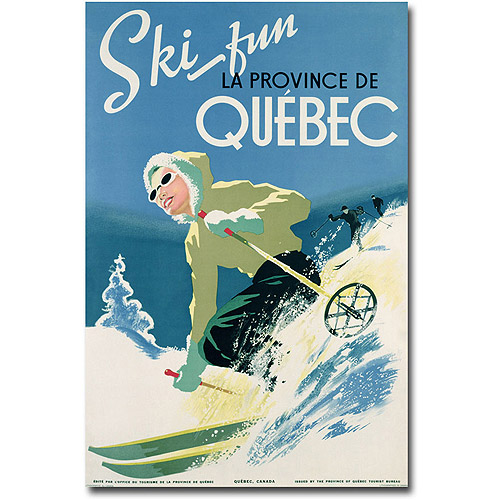 "Trademark Art ""Skiing in Quebec, 1938"" Canvas Wall Art"