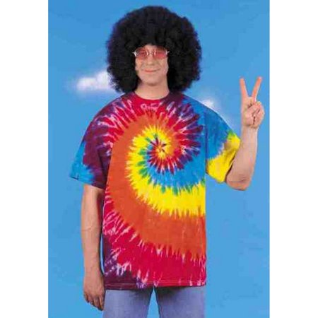 Rasta Tie-dye T-shirt Adult Halloween Costume (Rasta Woman Halloween Costume)