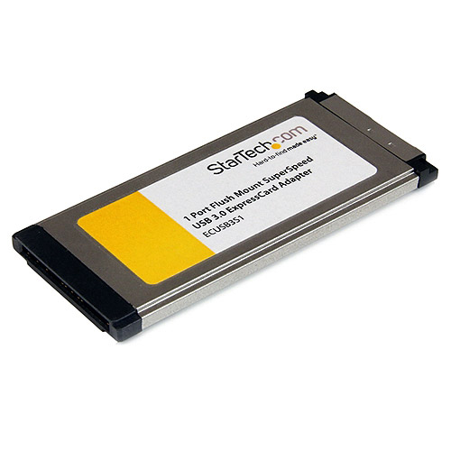 Startech 1-Port Flush Mount ExpressCard SuperSpeed USB 3.0 Card Adapter