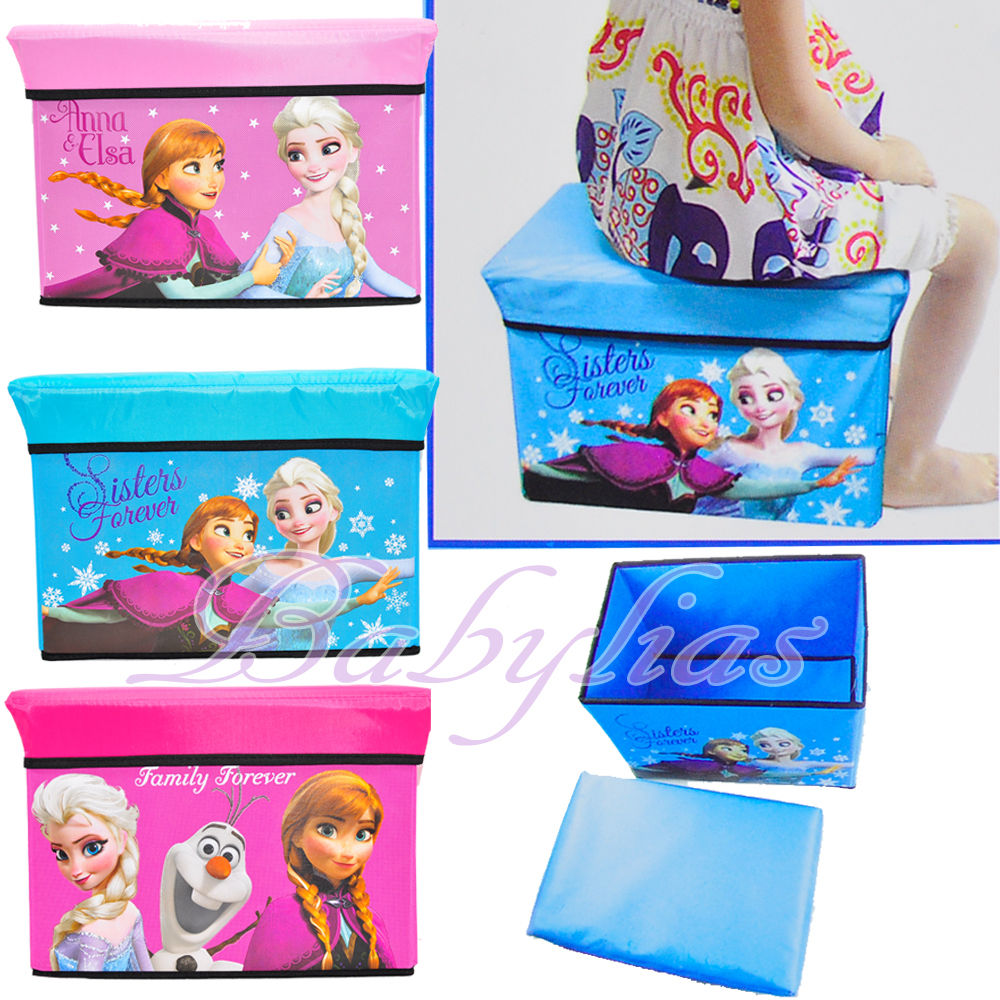 Disney Frozen set of 3 storage train cases Anna /& Elsa children/'s bedroom boxes