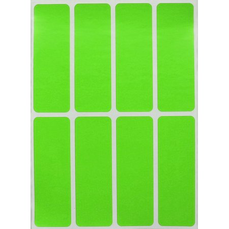 Rectangular Color Coding Labels 3 X 1 Inches Rectangle Label In Neon Green Name Tags For Kids 40 Pack By Royal