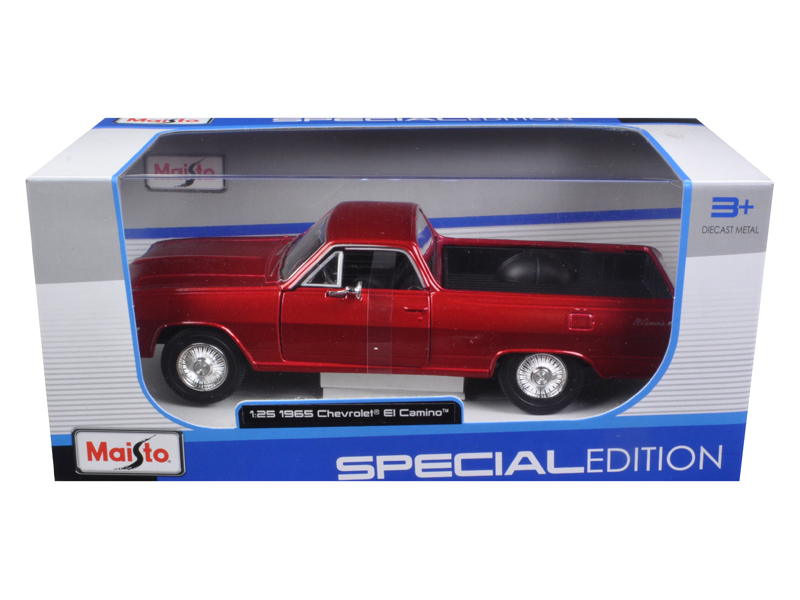 1965 Chevrolet El Camino Metallic Red 1 25 Diecast Model Car by Maisto by Maisto