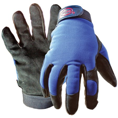 Medium Leather Glove - Boss 890M Medium Black and Blue Boss Guard Leather Gloves