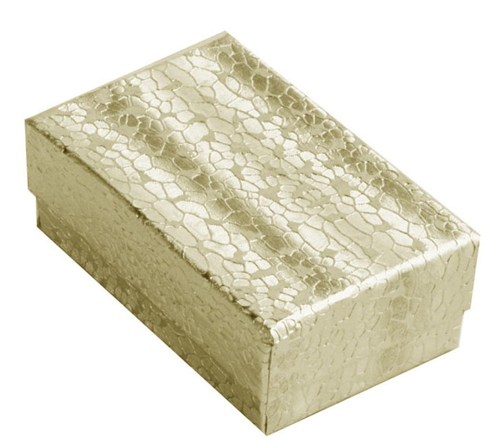 JSP   100X COTTON FILLED BOXES GOLD, 5inchX4inchX0.87inch #53