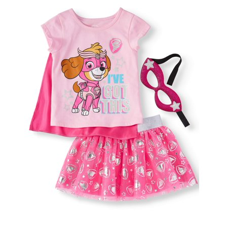 T-Shirt, Tutu Skirt, & Headband, 3pc Outfit Set (Toddler Girls) for $<!---->