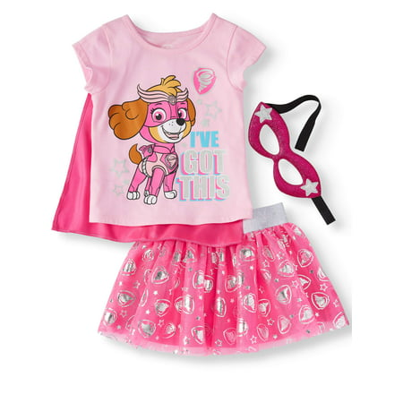 T-Shirt, Tutu Skirt, & Headband, 3pc Outfit Set (Toddler Girls) (Moll Outfit)