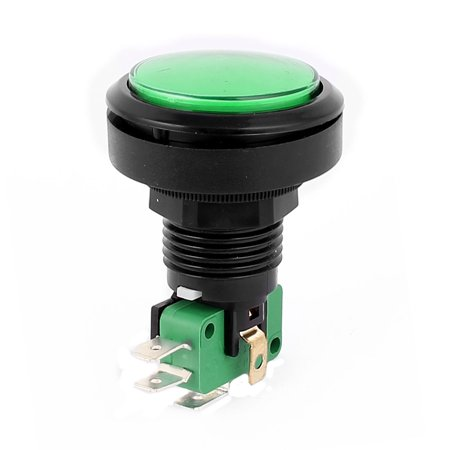 Arcade Game Machines 24mm Thread Dia Cap Momentary SPDT Push Button Switch