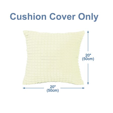 Pack of 2, Plush Throw Pillow Case Faux Fur Cushion Cover Home Decorative for Sofa Couch Bed Car (20 x 20 Inch 50 x 50cm - image 5 of 8
