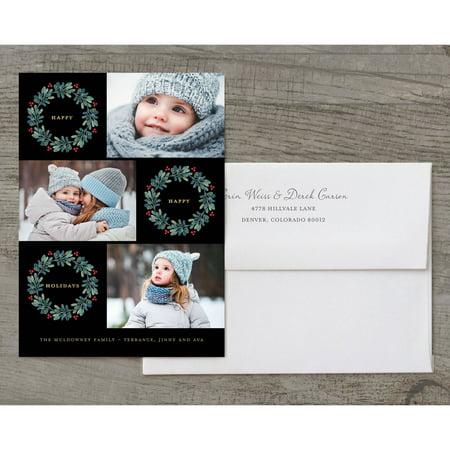 - Modern Wreaths Holiday Card