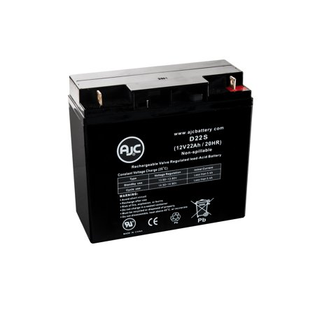 Rhino SLA 17-12 12V 22Ah Wheelchair Replacement Battery - This is an AJC Brand Replacement ()