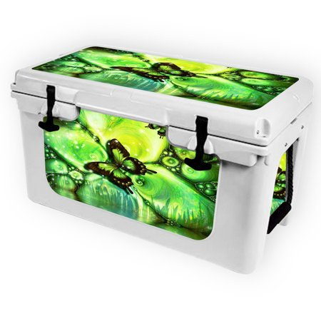 Skin for RTIC 45 Cooler (2017 Model) - Mystical Butterfly| MightySkins Protective, Durable, and Unique Vinyl Decal wrap cover  | Easy To Apply, Remove, and Change Styles | Made in the USA