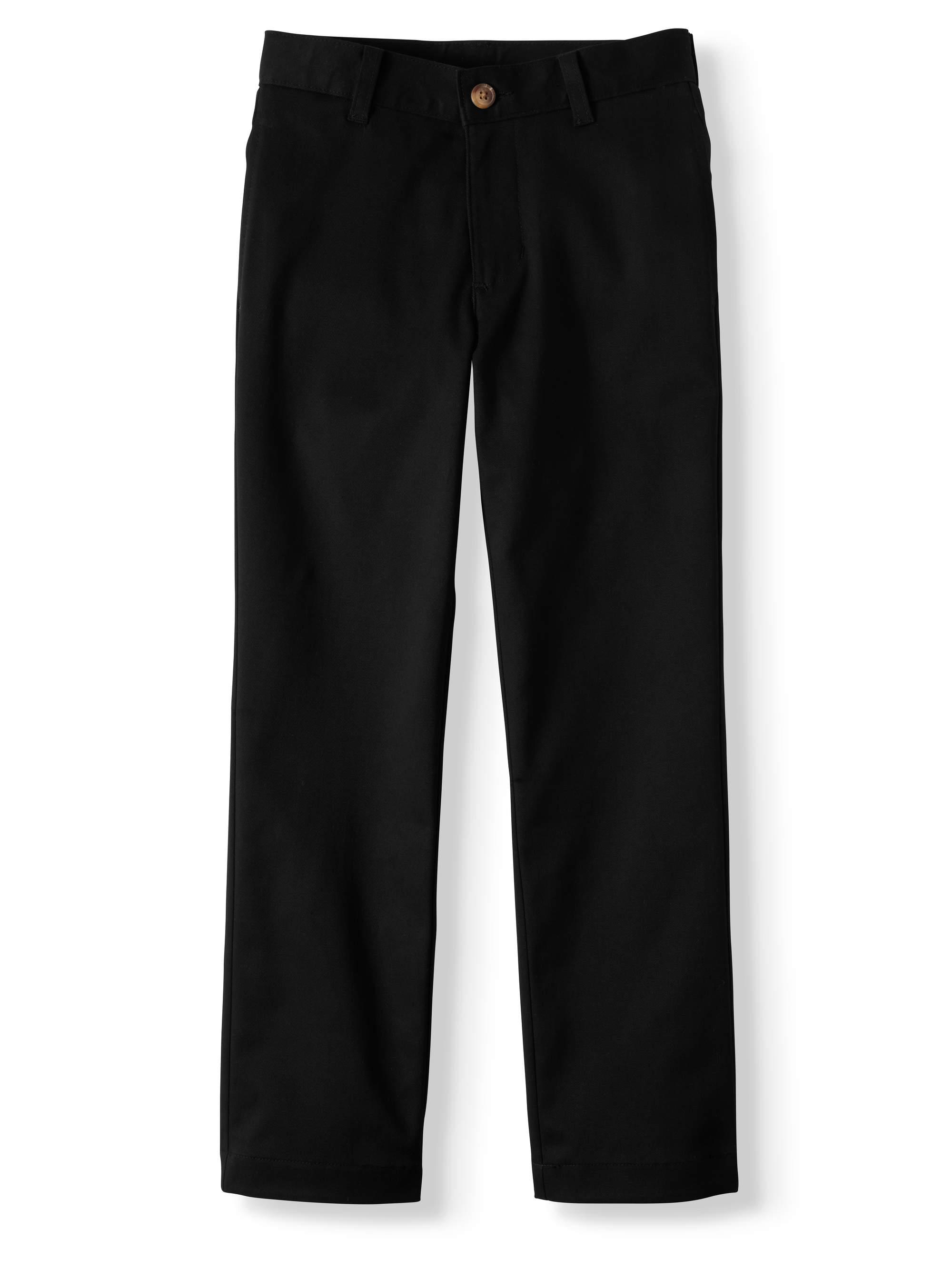 Boys Prep School Uniform Super Soft Flat Front Pants