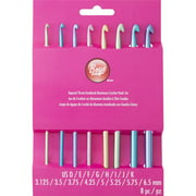 Boye Aluminum Crochet Hook Set - Sizes D,E,F,G,H,I,J & K