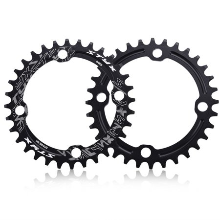 AMONIDA Bike Crank Chain,32/34/36/38T BCD 104mm Mountain Bike Steel Single Crank Chain Ring Repair Parts for Road Bike,Single Speed Crankset for Mountain Road Bike Fixed Gear Bicycle Folding (Parts To Build A Fixed Gear Bike)