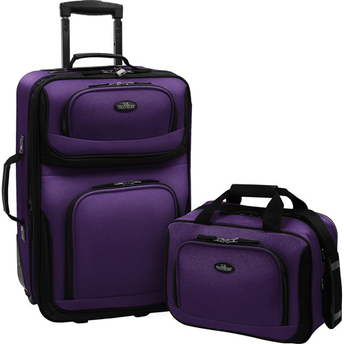 Travelers Choice US Traveler Rio 2 Piece Expandable Carry-On Luggage Set