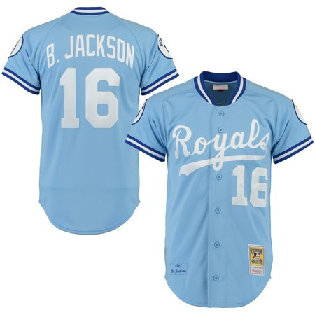 san francisco d3a66 05cc3 Bo Jackson Kansas City Royals Mitchell & Ness Throwback Authentic Jersey -  Light Blue