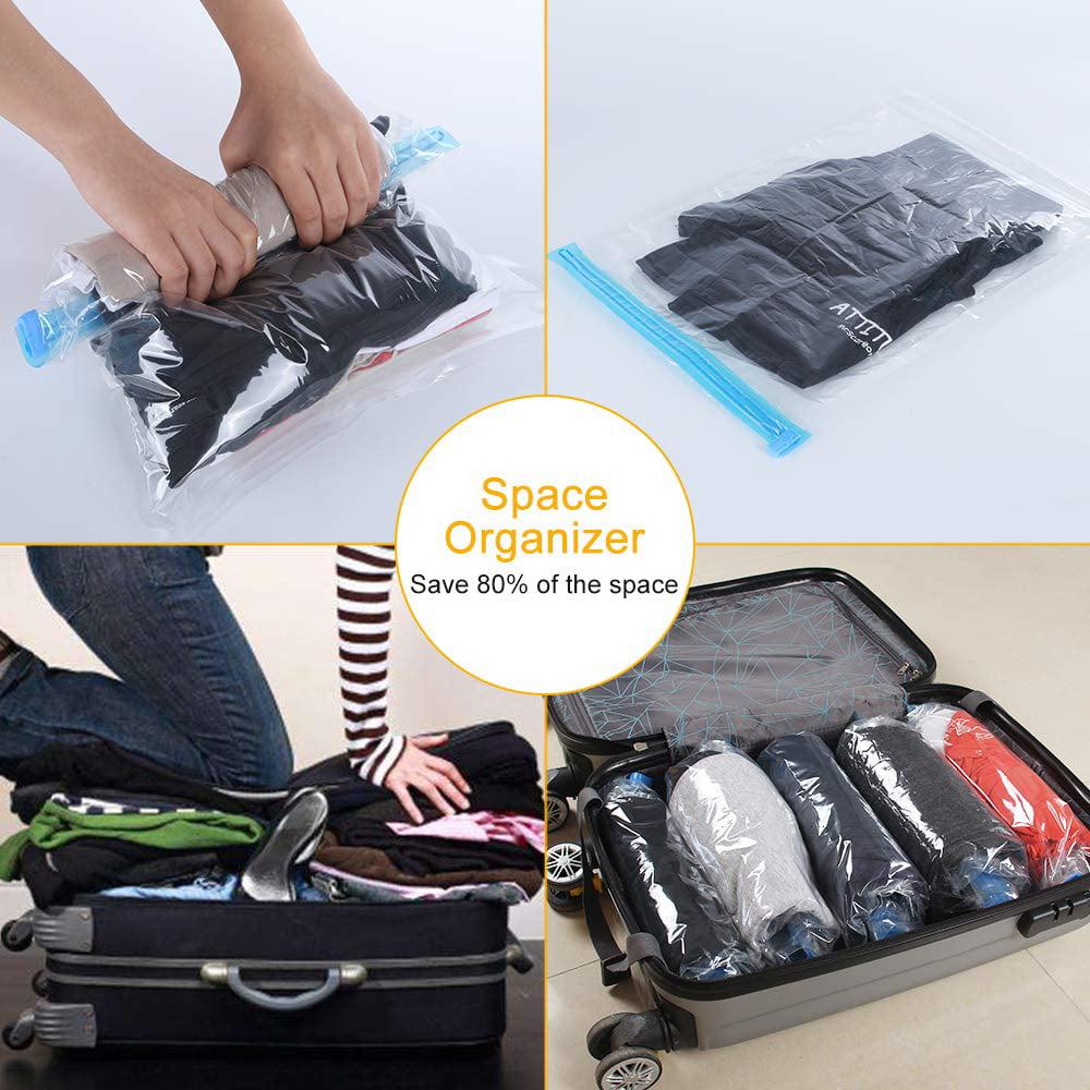 Vacuum Storage Space Saving Bags Compressed Travel Reusable Large Saver SF