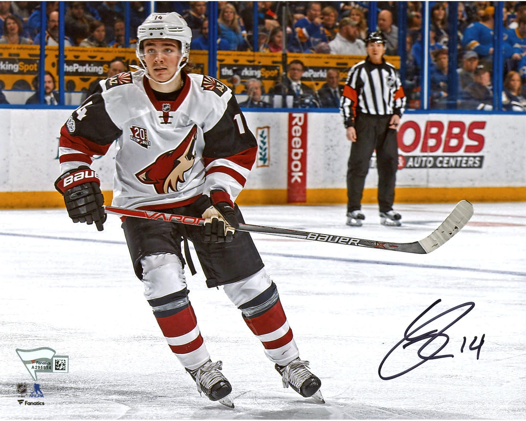 "Clayton Keller Arizona Coyotes Autographed 8"" x 10"" Debut Skating Photograph Fanatics Authentic Certified by Fanatics Authentic"