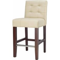 Safavieh Thompson Rustic Glam Tufted Counter Stool with Footrest