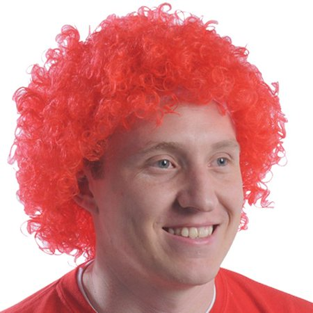 Red Curly Afro Wig Afro Clown Ronald McDonald Costume  Cosplay Hair - Wigs Red Hair
