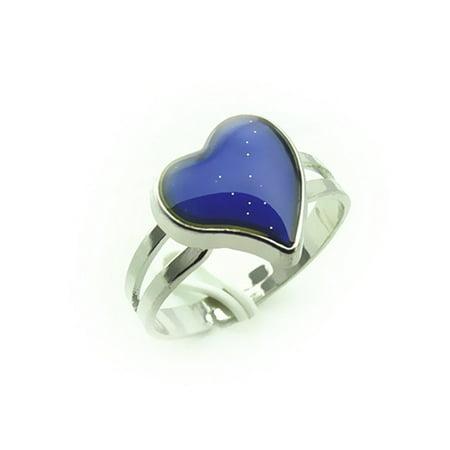 Adjustable Heart Shaped Color Change Emotion Feeling Mood Ring Finger - Mood Rings For Kids