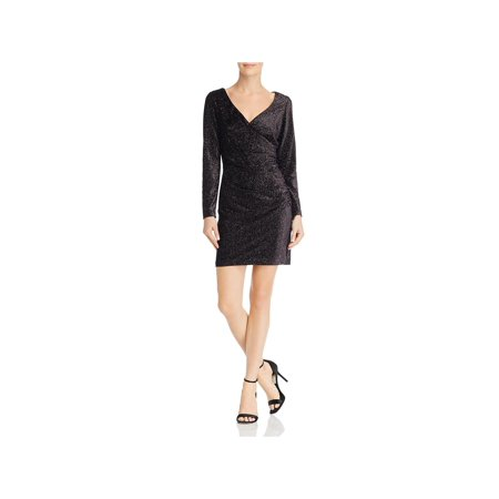 Aidan by Aidan Mattox Womens Metallic Glitter Party Dress
