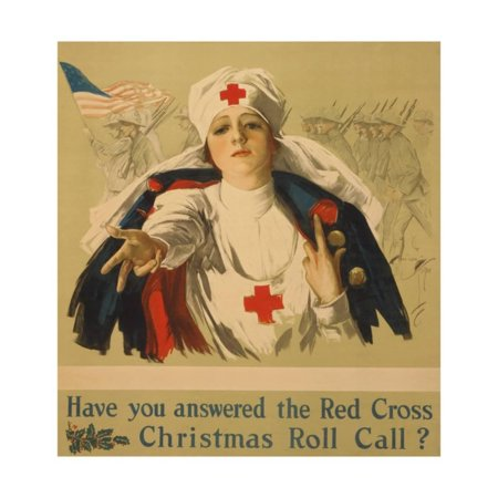 Have You Answered the Red Cross Christmas Roll Call? Print Wall Art By Harrison Fisher