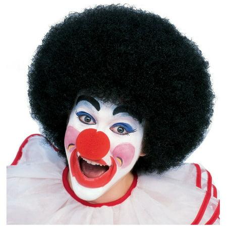 Clown Wig Adult Costume Accessory Black