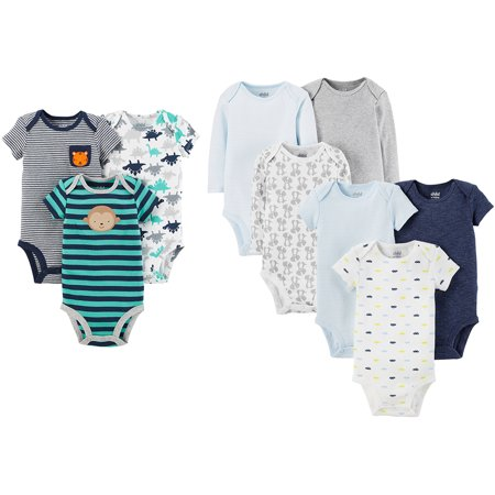 Child of Mine by Carters Newborn Baby Boy 6 Pack Bodysuit Bundle - Mens Bodysuit