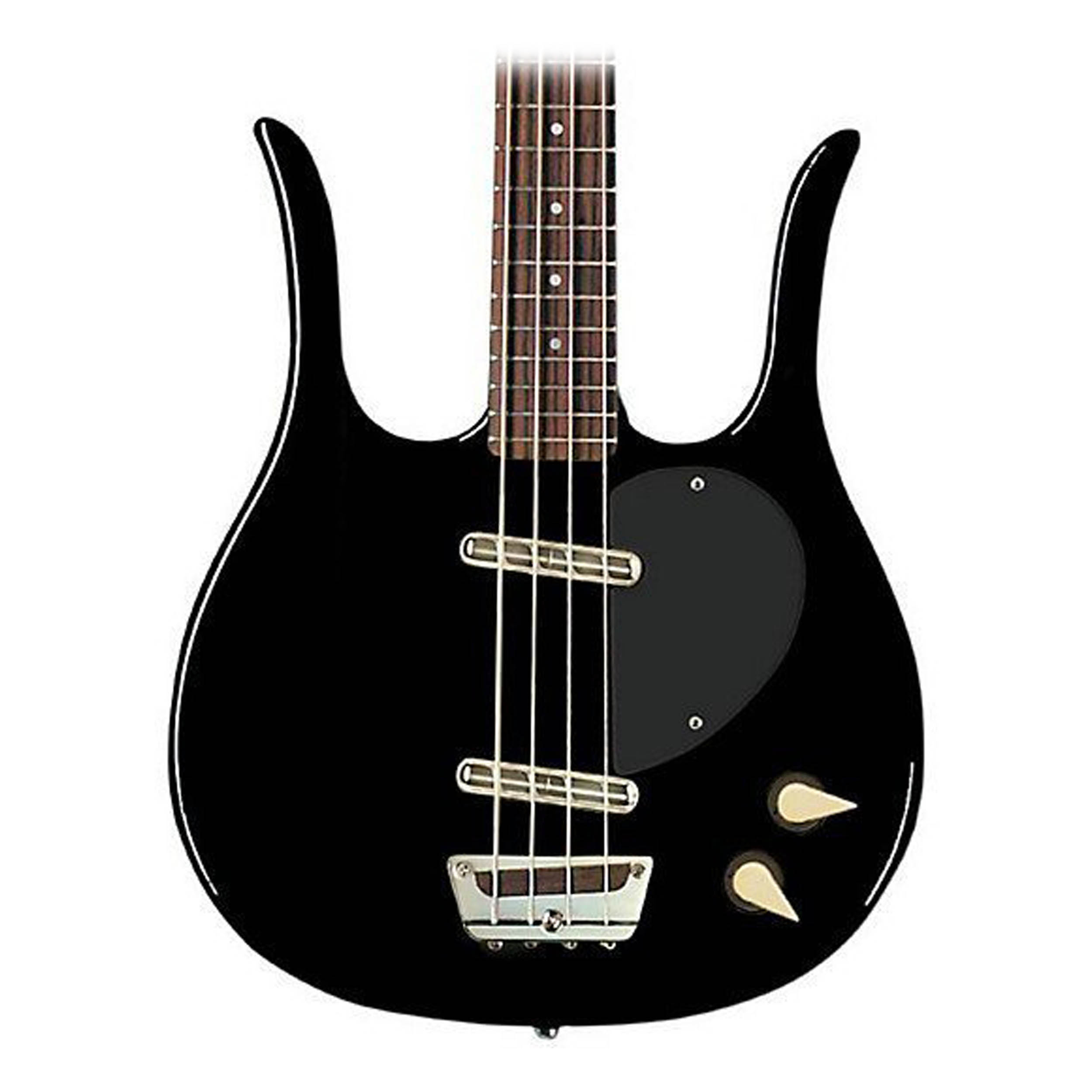 Danelectro Longhorn Electric Bass Guitar (Black) by Danelectro
